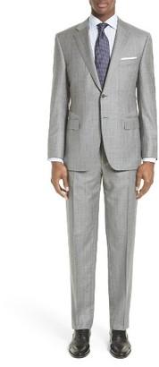 Men's Canali Classic Fit Plaid Wool Suit $1,895 thestylecure.com