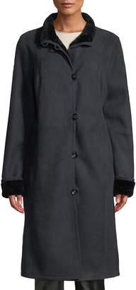 Gorski Lamb Suede and Shearling Short Coat