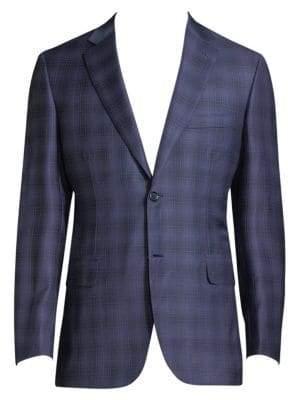 Brioni Regular-Fit Plaid Wool Jacket