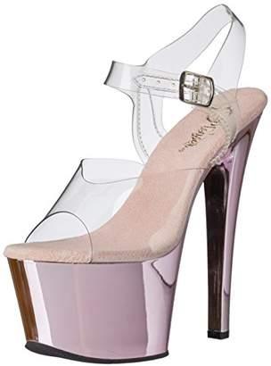 Pleaser USA Women's Sky308/C/Bpch Platform Dress Sandal