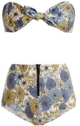 Lisa Marie Fernandez Poppy Floral Print Tie Bikini - Womens - Cream Multi