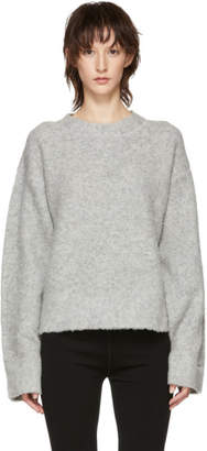 Alexander Wang Grey Exaggerated Pilling Pullover Sweater