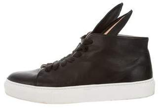 Minna Parikka Leather Bunny Sneakers