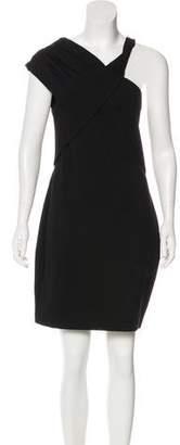 Halston Asymmetrical Knee-length Dress