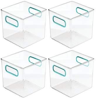 mDesign Plastic Kitchen Pantry Food Storage Bin with Handles