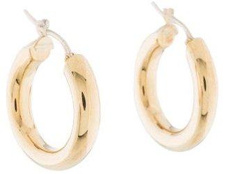 18K Hoop Earrings $225 thestylecure.com