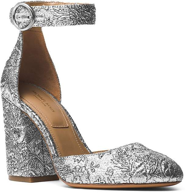 Michael Kors Collection Women's Rena Brocade Ankle Strap Pumps