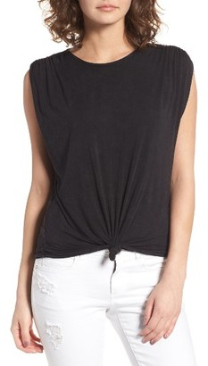 Women's Sun & Shadow Cinched Sleeve Tee $39 thestylecure.com