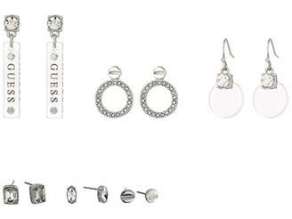 GUESS 6-Pair Ear Set with Studs and Mini Drops