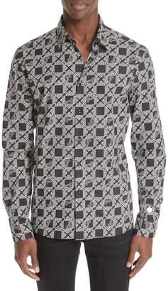 Versace Geo Pattern Sport Shirt