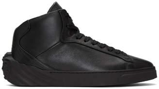 Versace Black Back Medusa Head High-Top Sneakers