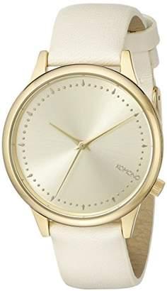 Komono Women's KOM-W2502 Estelle Pastel Series Gold-Tone Stainless Steel Watch with Beige Band