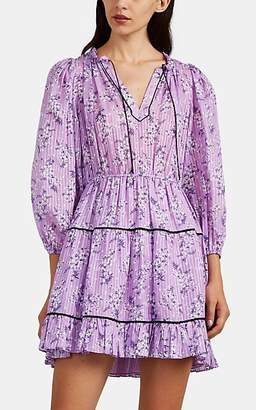 Ulla Johnson Women's Brienne Floral Cotton-Silk Dress - Lilac