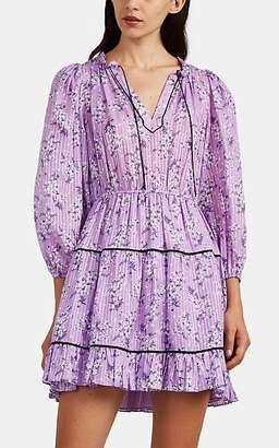 Ulla Johnson Women's Brienne Floral Cotton-Silk Dress - Lilac