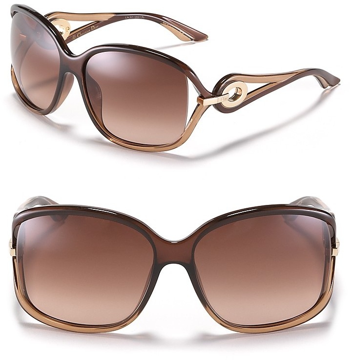 Dior Open Temple Oversized Sunglasses