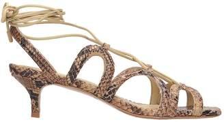 Zimmermann Animalier Leather Sandals