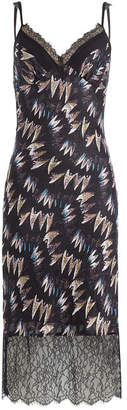 Diane von Furstenberg Printed Silk Dress with Lace