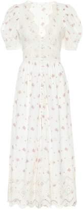 LoveShackFancy Stacy floral cotton midi dress