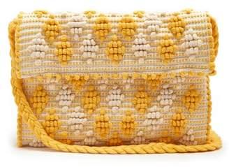 Antonello tedde Antonello Tedde - Suni Rombetti Cotton Cross Body Bag - Womens - Yellow White