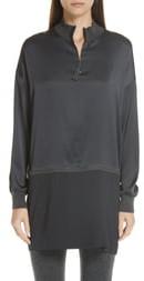 Fabiana Filippi Beaded Stretch Silk & Cashmere Tunic