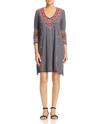 Johnny Was Collection Marjan Embroidered Shift Dress