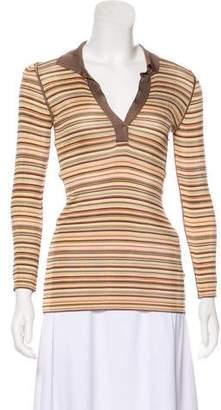 Dolce & Gabbana Striped Long Sleeve Polo