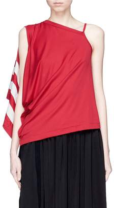 Y-3 3-Stripes asymmetric sleeveless top