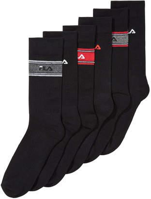 Fila Men's 6-Pk. Striped Cushioned Crew Socks