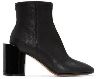Maison Margiela Black Leather Cut-Out Boots $1,080 thestylecure.com