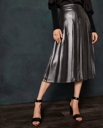Ted Baker LAURRAA Foil pleated midi skirt