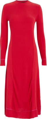Proenza Schouler Silk Cashmere Rib Knit Dress