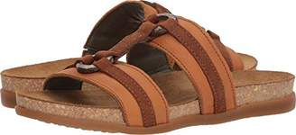El Naturalista Women's NF49 Soft Grain-Pleasant Carrot-Wood/Zumaia Flat Sandal