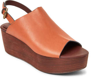 See by Chloe Natural Leather Platform Slingback Sandals