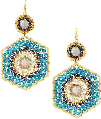 Nakamol Beaded Hexagon Drop Earrings