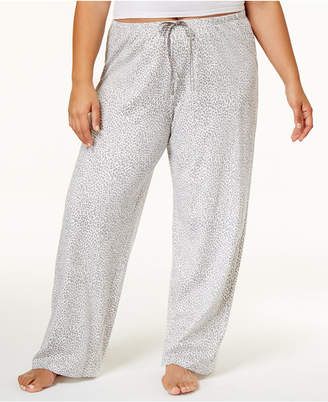 Hue Plus Size Rita Cheetah Cotton Pajama Pants