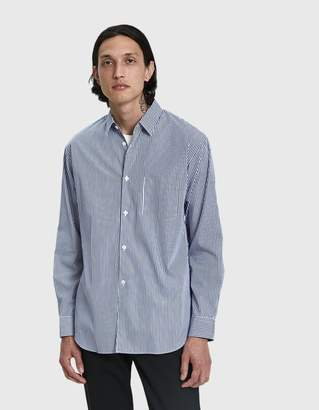 Comme des Garcons Forever Blue Stripe Button Up Shirt