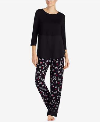 DKNY Satin-Trim Pajama Top