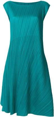 Pleats Please Issey Miyake flared asymmetric dress