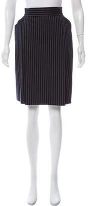 Thierry Mugler Pinstripe Knee-Length Skirt