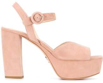 Prada heeled platform sandals