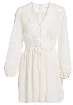Zimmermann Women's Plisse Dot Print Dress