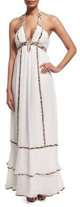 Diane von Furstenberg Sakara Paneled Silk Maxi Dress, Ivory $898 thestylecure.com