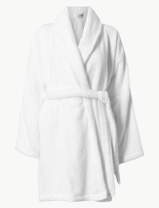 M S CollectionMarks and Spencer Pure Cotton Towelling Short Dressing Gown 8a6793eff