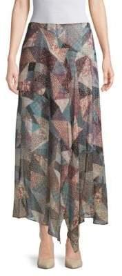 BCBGMAXAZRIA Patchwork Hankerchief Skirt