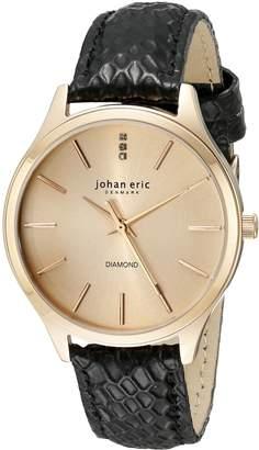Johan Eric Women's JE2200-09-016.7 Herlev Analog Display Quartz Black Watch