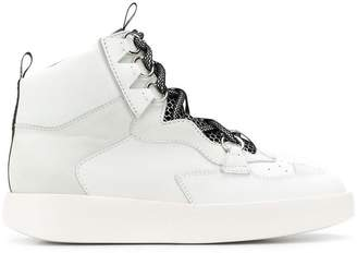 Grey Mer panelled hi-top sneakers