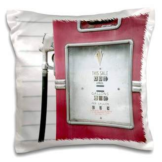 3dRose Close up of antique gas pump, Dwight, Illinois, USA. Route 66 - Pillow Case, 16 by 16-inch