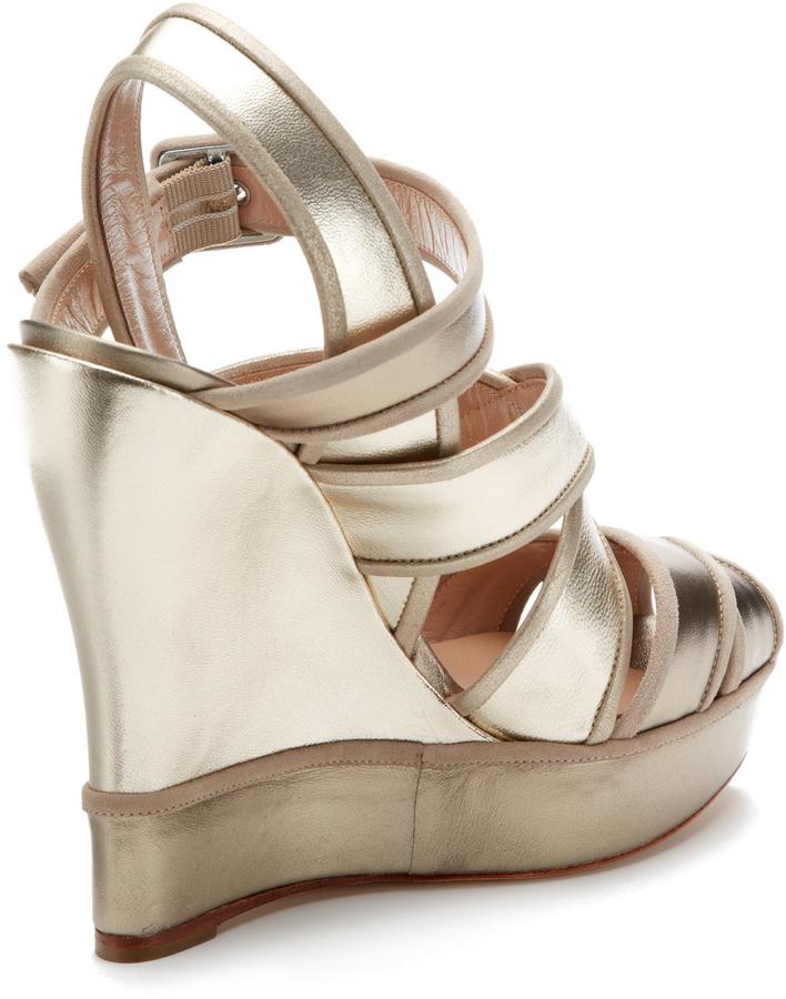 Oscar de la Renta Vacanza Chunky Platform Wedge Sandal