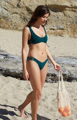 Salero Swim Lace-Up Cropped Bikini Top