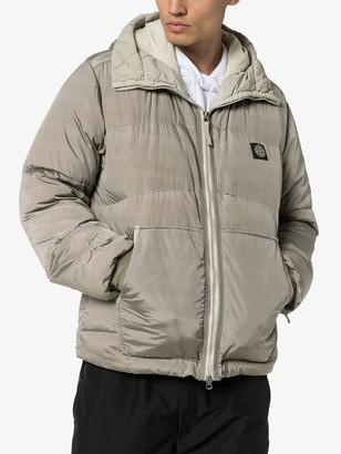 Stone Island padded metallic jacket
